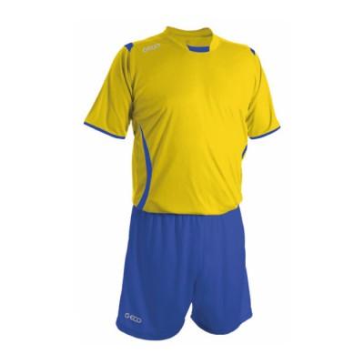 Echipament fotbal galben royal royal GECO