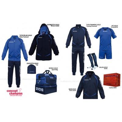 Set complet echipament sportiv Box Gold Albastru-Bleumarin GIVOVA
