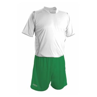 Echipament fotbal alb verde GECO
