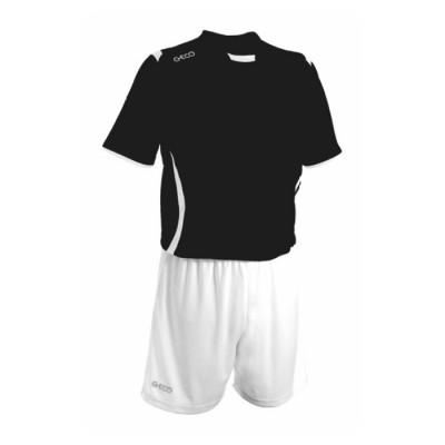 Echipament fotbal negru alb GECO