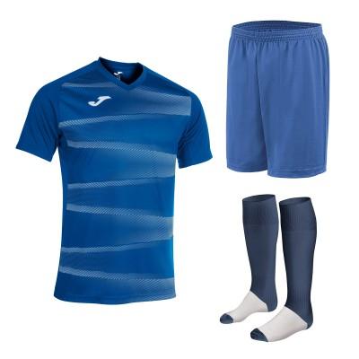 Set echipament fotbal, tricou Grafity II JOMA, sort si jambiere Concept Champion