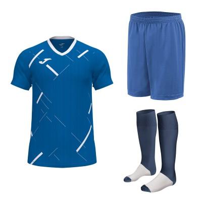 Set echipament fotbal, tricou Tiger III JOMA, sort si jambiere Concept Champion