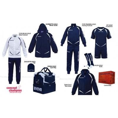 Set complet echipament sportiv Box Gold Bleumarin-Alb GIVOVA