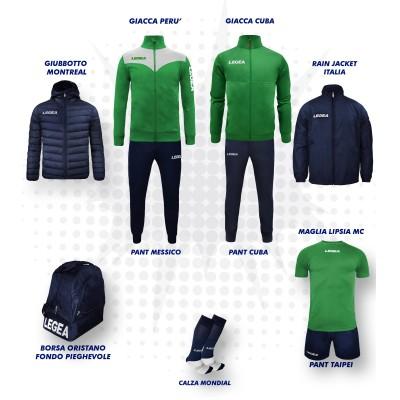 Set complet fotbal, Bomba New, Verde/Bleumarin, LEGEA