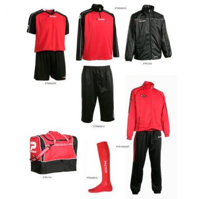 Set complet echipament fotbal Patrick Silver 033